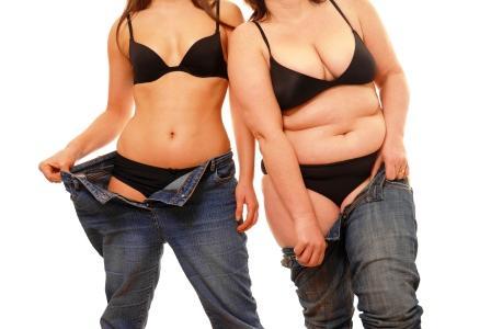 chuda vs tucna zena